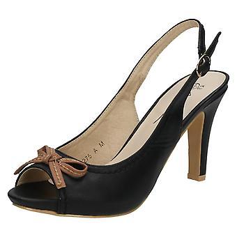 Ladies Anne Michelle Slingback Peep Toe Sandals