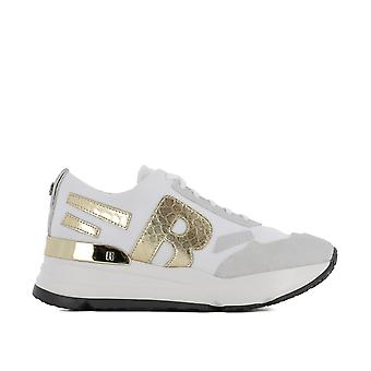 RUCO line ladies 4000MELOGBIANCO white fabric of sneakers