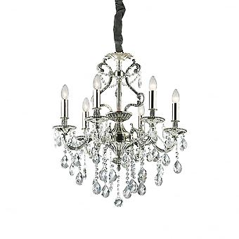 Ideal Lux Gioconda Traditional Ceiling Pendant With Diamante Design 6 Light