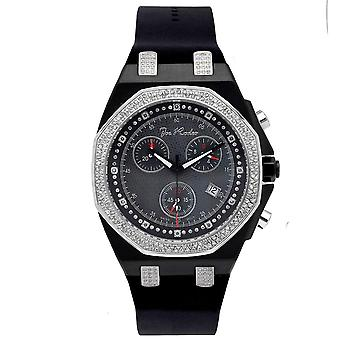 Joe Rodeo diamond men's watch - PANAMA Black 2.15 ctw