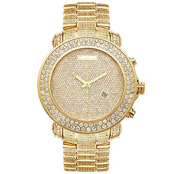 Joe Rodeo diamond men's watch - JUNIOR gold 23.9 ctw