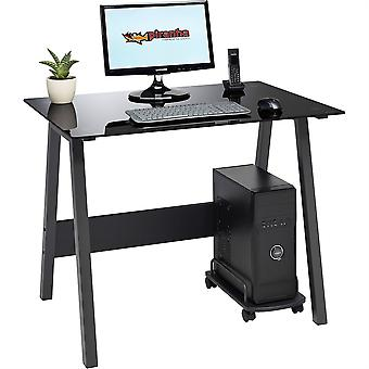 Barbeel Desk zwart glas PC7bg
