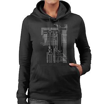 Dragon 32 Computer Schematic Women's Hooded Sweatshirt