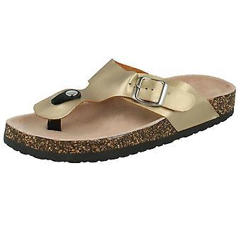 Womens Spot On Toepost Sandals