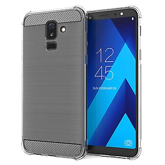 Samsung Galaxy A6 Plus (2018) Carbon Anti höst TPU Case - Clear