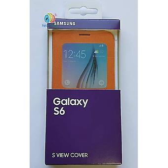 Original Samsung EF-CG920BOEG S-view fabric book cover cover for Galaxy S6 orange