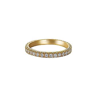 Esprit Damen Ring Silber Gold Zirkonia Brilliance ESRG91986B