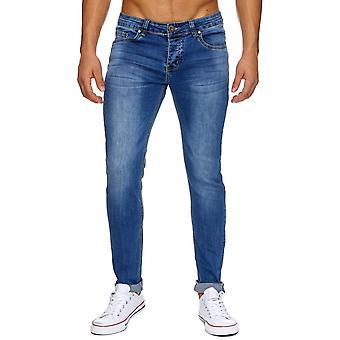 Stretch jeans stretch uomo jogging elastico jeans slim fit Jeans Lange Pantalone classico uomo denim di Stonewashed H1917 pantaloni Stonewahed slim fit blu grigio