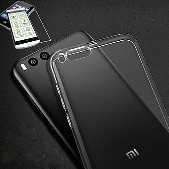 Silikoncase transparent + 0.3 H9 tempered glass for Xiaomi Mi6 bag case cover
