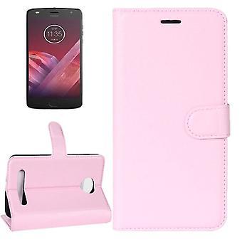 Tasche Wallet Premium Rosa für Motorola Moto Z2 Play Schutz Hülle Case Cover Etui Neu