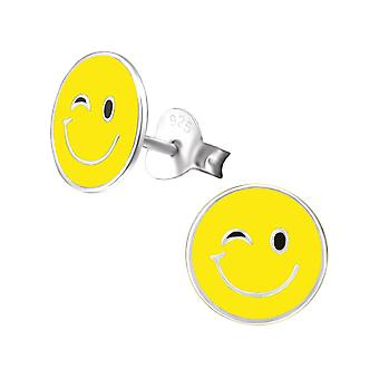 Emotion Wink - Epoxy Colour + 925 Sterling Silver Colourful Ear Studs