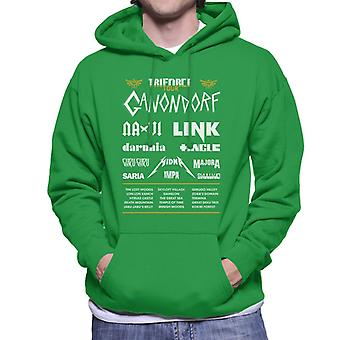 Legend Of Zelda Triforce Tour Men's Hooded Sweatshirt