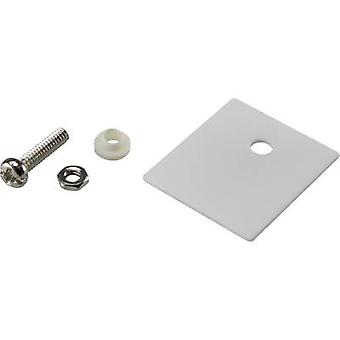 Semiconductor mounting set (L x W) 25 mm x 22 mm Suitable for TO 218 SCI A18-10C 1 Set