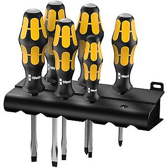 Workshop Screwdriver set 6-piece Wera 932/918/6 Slot, Pozidriv