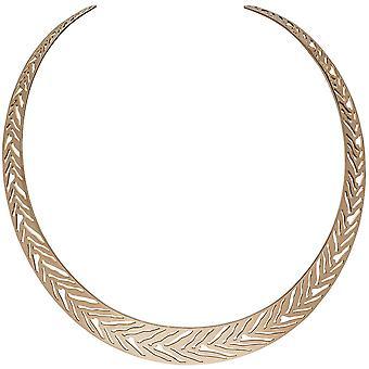Открытых колье ожерелье цепь из нержавеющей стали розы золотого цвета с покрытием 40 см
