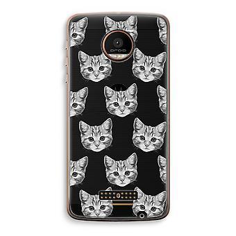 Motorola Moto Z Force Transparent Case (Soft) - Kitten