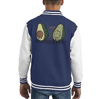 Boooone Zombie Avocado Kid's Varsity Jacket