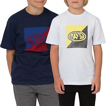 Tierische jungen Thoron Kurzarm Rundhals T-Shirt T-Shirt Top - Navy / weiß