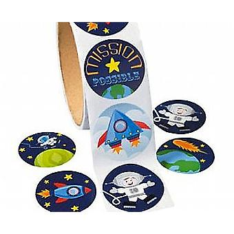 Roll of 100 Outer Space Stickers for Kids Crafts   Outer Space Crafts