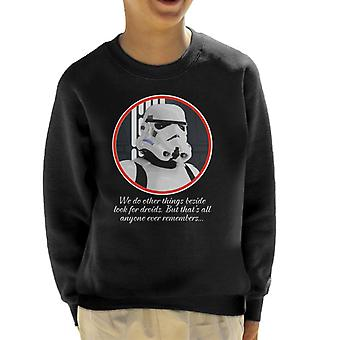 Original Stormtrooper Droids Quote Kid's Sweatshirt