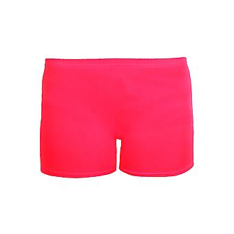 Girls Cotton Lycra Stretch Gym Gymastics Dance Children's Neon Hot Pants Shorts