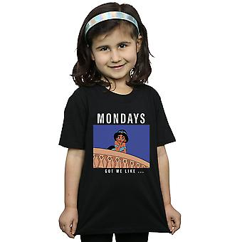 Disney Princess Girls Jasmine Mondays Got Me Like T-Shirt