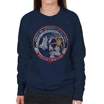 NASA STS 41 C Challenger Mission Badge Distressed Women's Sweatshirt