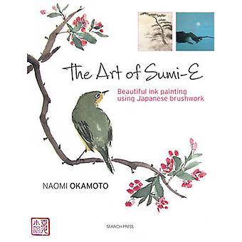 A arte do Sumi-E - tinta linda pintura usando pincel japonês por