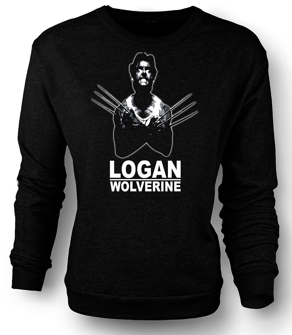 Mens Sweatshirt Logan Wolverine - X - Men - Comic