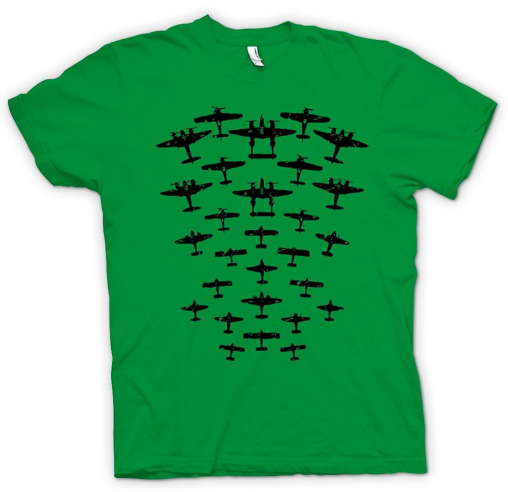 Mens T-shirt - WW2 Bombers And Fighters - Funny Design