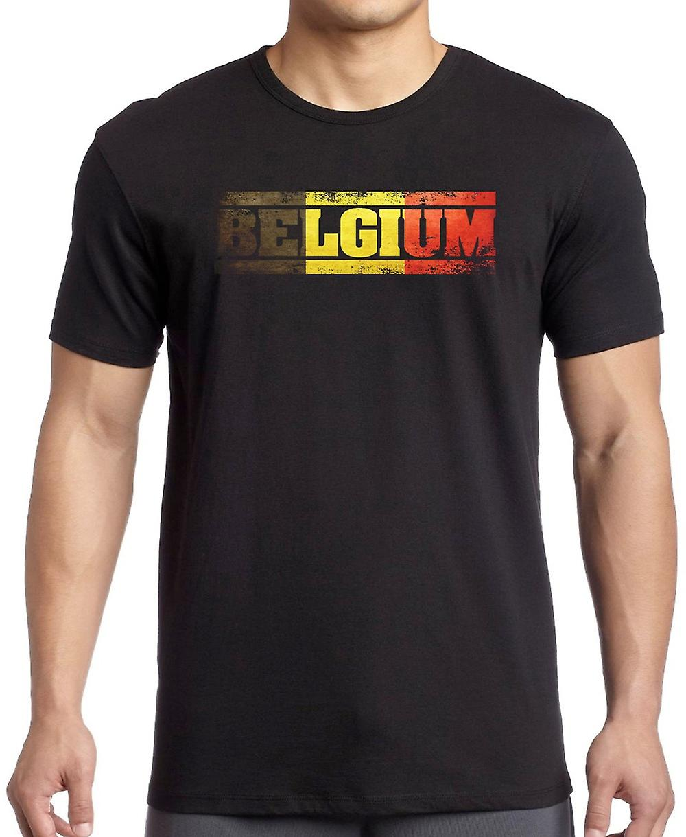 Belgian Belgium Flag - Words T Shirt