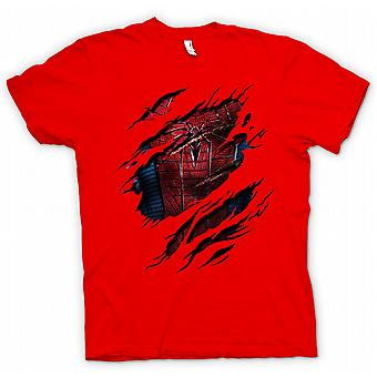 Kids T-shirt - New Spiderman Costume - Superhero Ripped Design