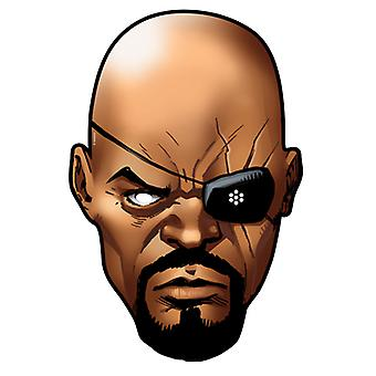 Nick Fury from Marvel's The Avengers Single Card Party Face Mask