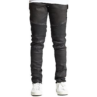Embellish Sacha Biker Denim Jeans in Black