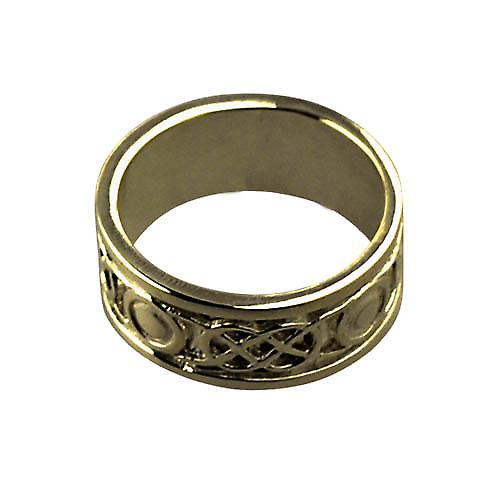 9ct Gold 8mm ladies Celtic Wedding ring