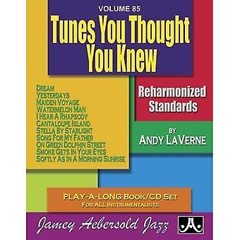 Volume 85: Tunes You Thought You Knew (with Free Audio CD): Reharmonized Standards Play-A-Long Book/CD Set for� All Instrumentalists: 85 (Jamey Aebersold Play-A-Long� Series)
