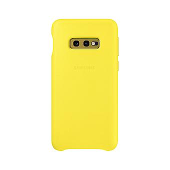 Samsung leather cover for Samsung Galaxy S10e G970F EF VG970LYEGWW yellow bag case protective cover