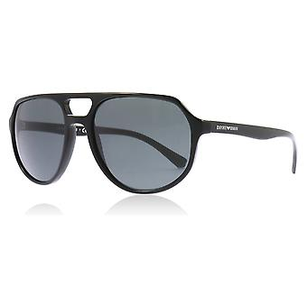 Emporio Armani EA4111 500187 Black EA4111 Pilot Sunglasses Lens Category 3 Size 57mm