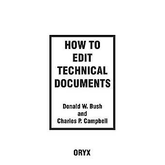 Como editar documentos técnicos por Bush & Donald