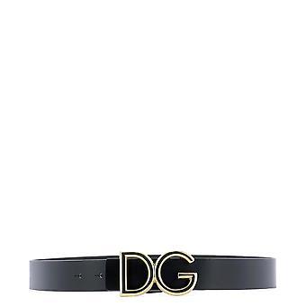 Correa de cuero negro de Dolce E Gabbana