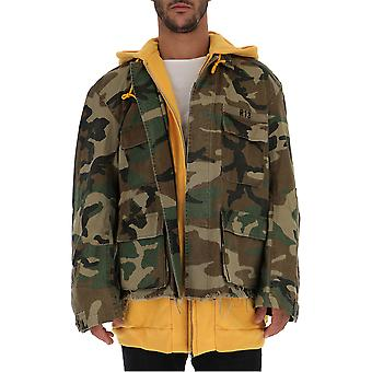 R13 Camouflage Cotton Outerwear Jacket