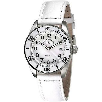 Zeno-montre dames montre de plongeur en céramique blanche de taille moyenne 6642-515Q-s2