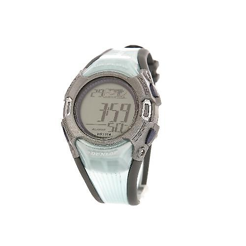 Dunlop Mint Green Rubber Strap Digital Calendar Gents Sports Watch DUN-46-G04