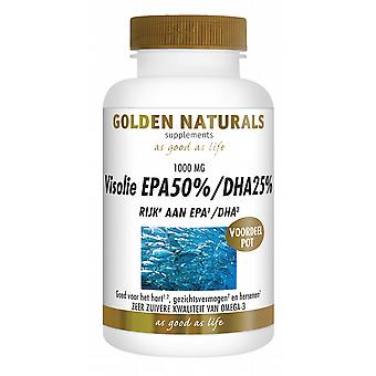 EPA50% DHA25% Golden Naturals fish oil 180 caps.