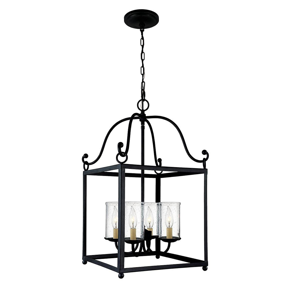 Elstead - 4 Light Pendant - Forged Iron Finish - FE DECLARATION4