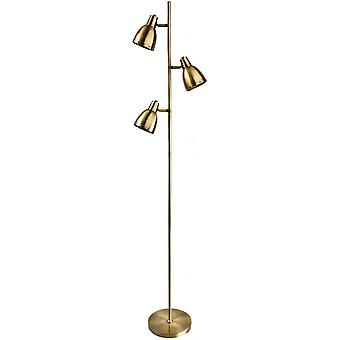 Firstlight Antique Brass 3 Dome Reading Floor Lamp
