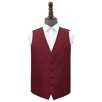 Burgundy Plain Shantung Wedding Waistcoat