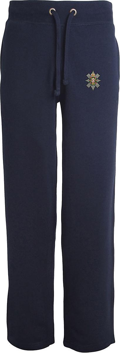 Black Watch - Licensed British Army Embroidered Open Hem Sweatpants / Jogging Bottoms