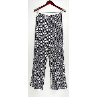 Susan Graver Women's Pants XXS Printed Liquid Knit Comfort Waist Blue A274515