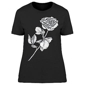 Hand Drawn Rose Flowers Tee Women's -Image by Shutterstock